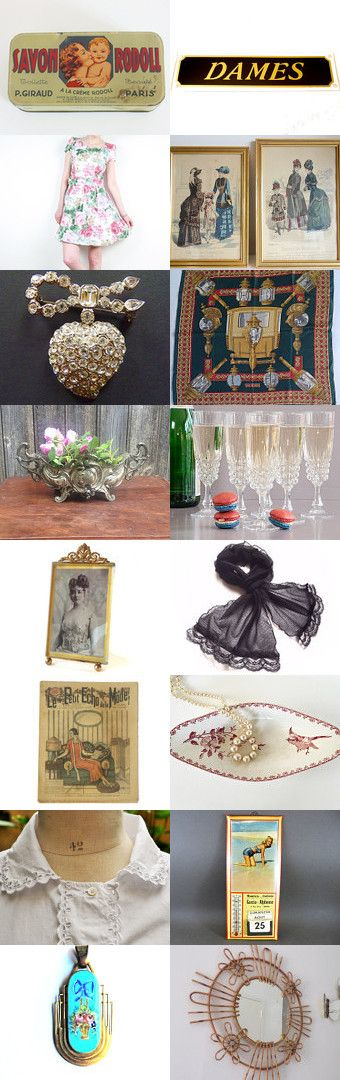 Univers féminin by Martine jc on Etsy--Pinned+with+TreasuryPin.com