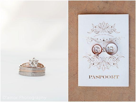 matching rings for bride and groom rose gold  | White Wedding Wonderland at Thaba Ya Batswana | http://damorphotography.co.za/ben-estune-white-wedding-wonderland-at-thaba-ya-batswana/