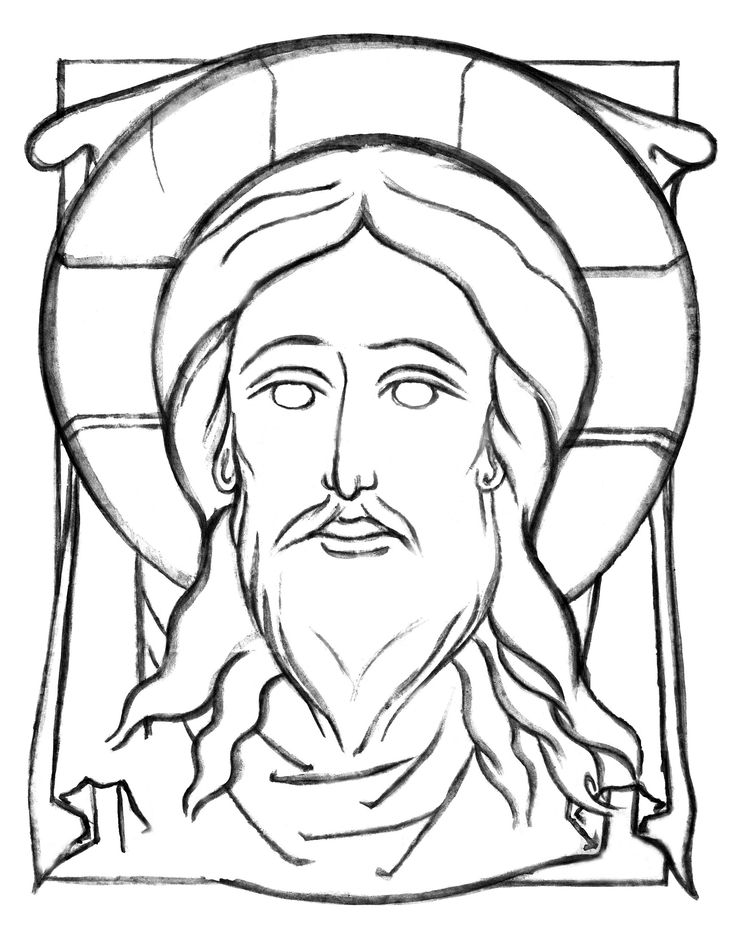 Line Drawing Jesus Face : Images about icons coloring pages history and