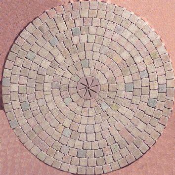 Marshalls Paving-Manmade 'Tegula Drivesett 50'-Traditional-BLOCK PAVING, 2.57m CIRCLE