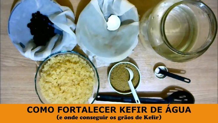 COMO FORTALECER KEFIR DE ÁGUA (e onde conseguir os grãos de Kefir)