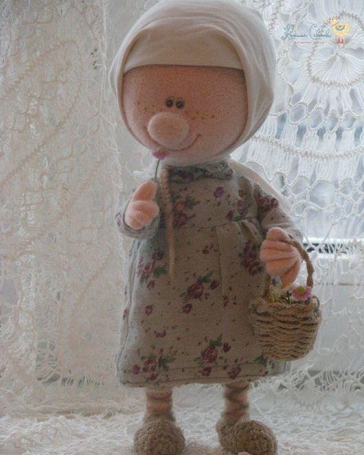 Коллекционные куклы ручной работы. Ярмарка Мастеров - ручная работа. Купить Девочка-снегурочка. Handmade. Девочка, валяная кукла, корзинка