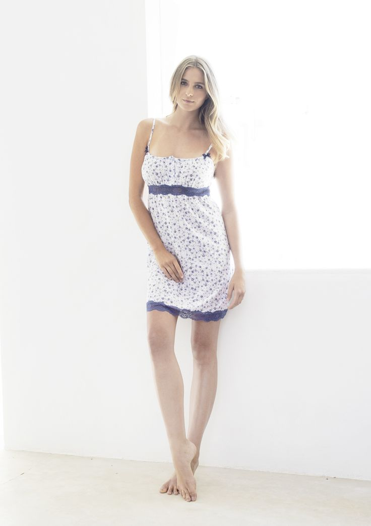 Nota Summer Chemise with Lace trim in  50%Cotton 50%Modal (Viscose)