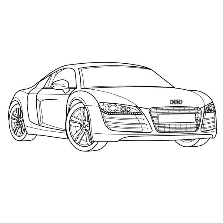 leuk voor kleurplaataudi r cars coloring pages