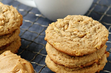 Apple Peanut Butter Cookies Recipe | FoodPorn | Pinterest