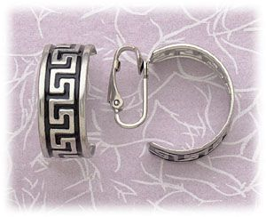 Stainless Steel Clip On Earrings Silver