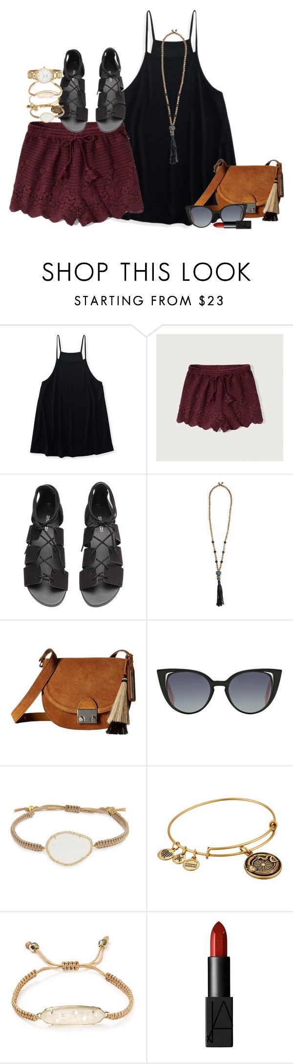 """""""something different"""" by smbprep ❤ liked on Polyvore featuring Aéropostale, Abercrombie & Fitch, H&M, Zeus+Dione, Loeffler Randall, Fendi, Tai, Alex and Ani, Kendra Scott and NARS Cosmetics"""