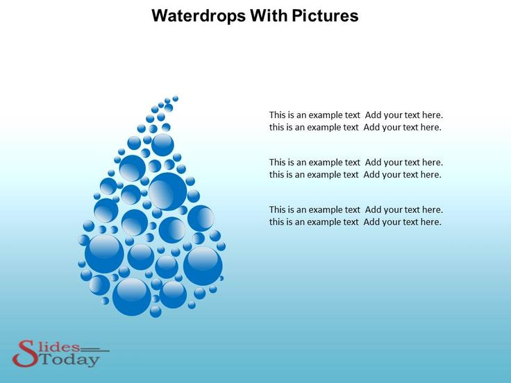 Waterdrops PowerPoint Theme