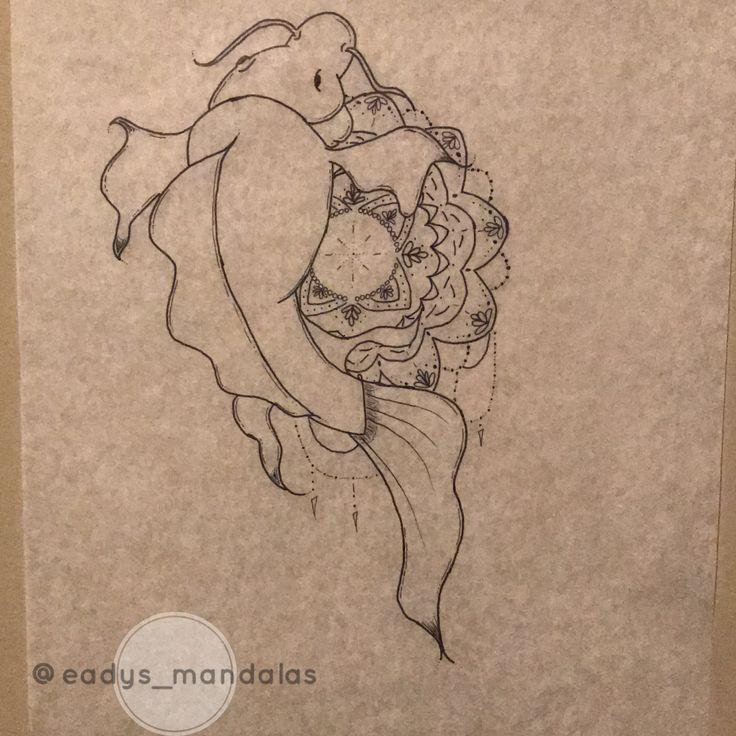 Koi Fish Drawing #mandala #koi #drawing #eadysmandalas