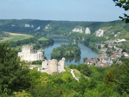 Chateau-Gaillard, The Stronghold of Richard the Lionheart, Les Andelys, France