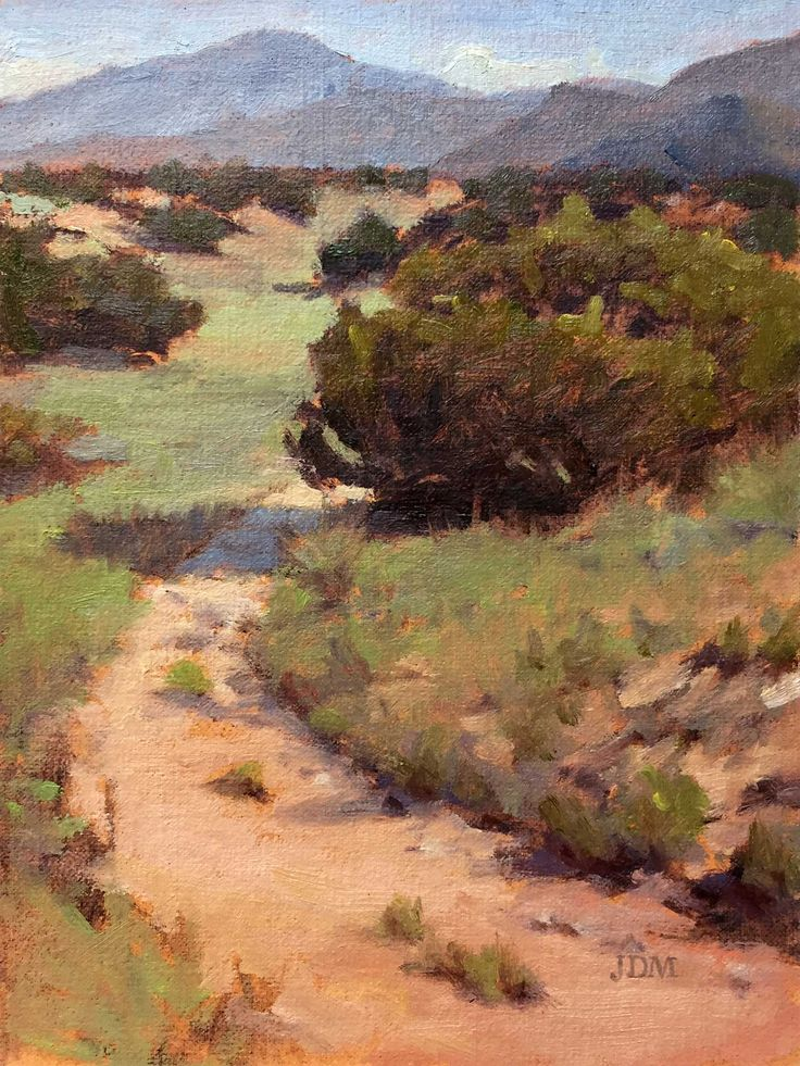 """John Meister offers plein air painting advice for visiting New Mexico and painting outdoors in the """"Land of Enchantment."""""""