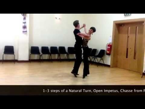 Intermediate Slow Waltz routine - Inspiration 2 Dance London - YouTube
