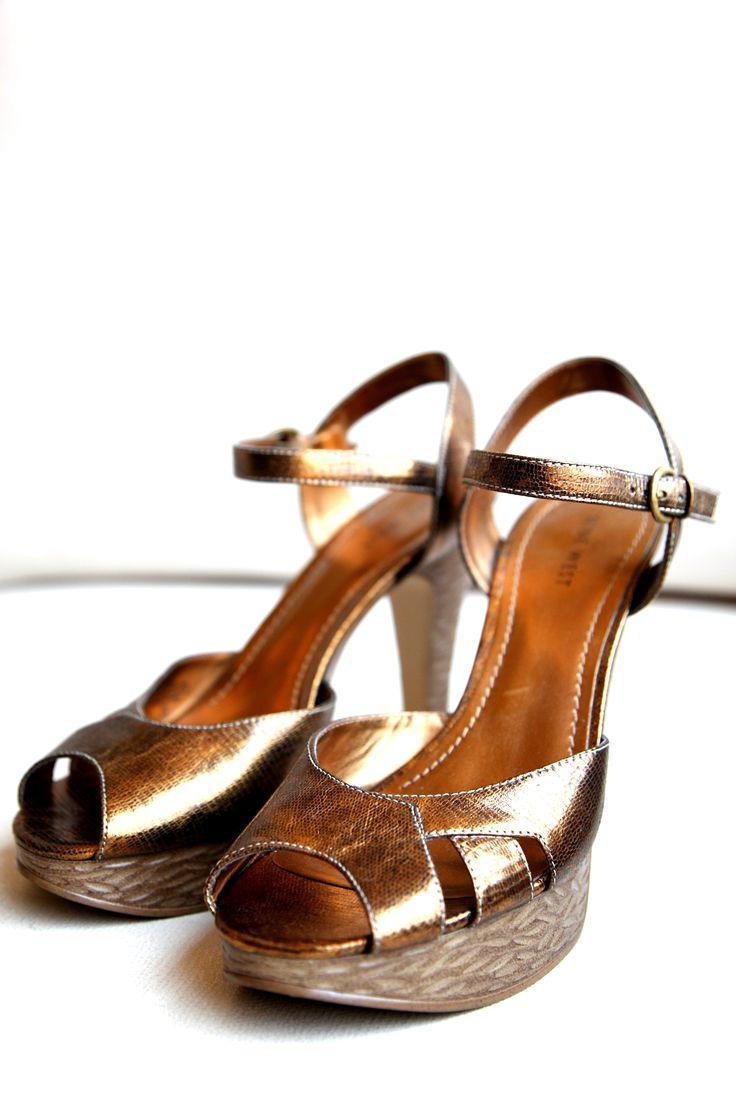 Zapatos Dorados Novia Boda