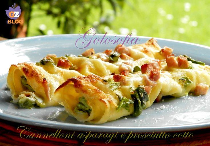 Cannelloni con asparagi e prosciutto cotto, ricetta primavera