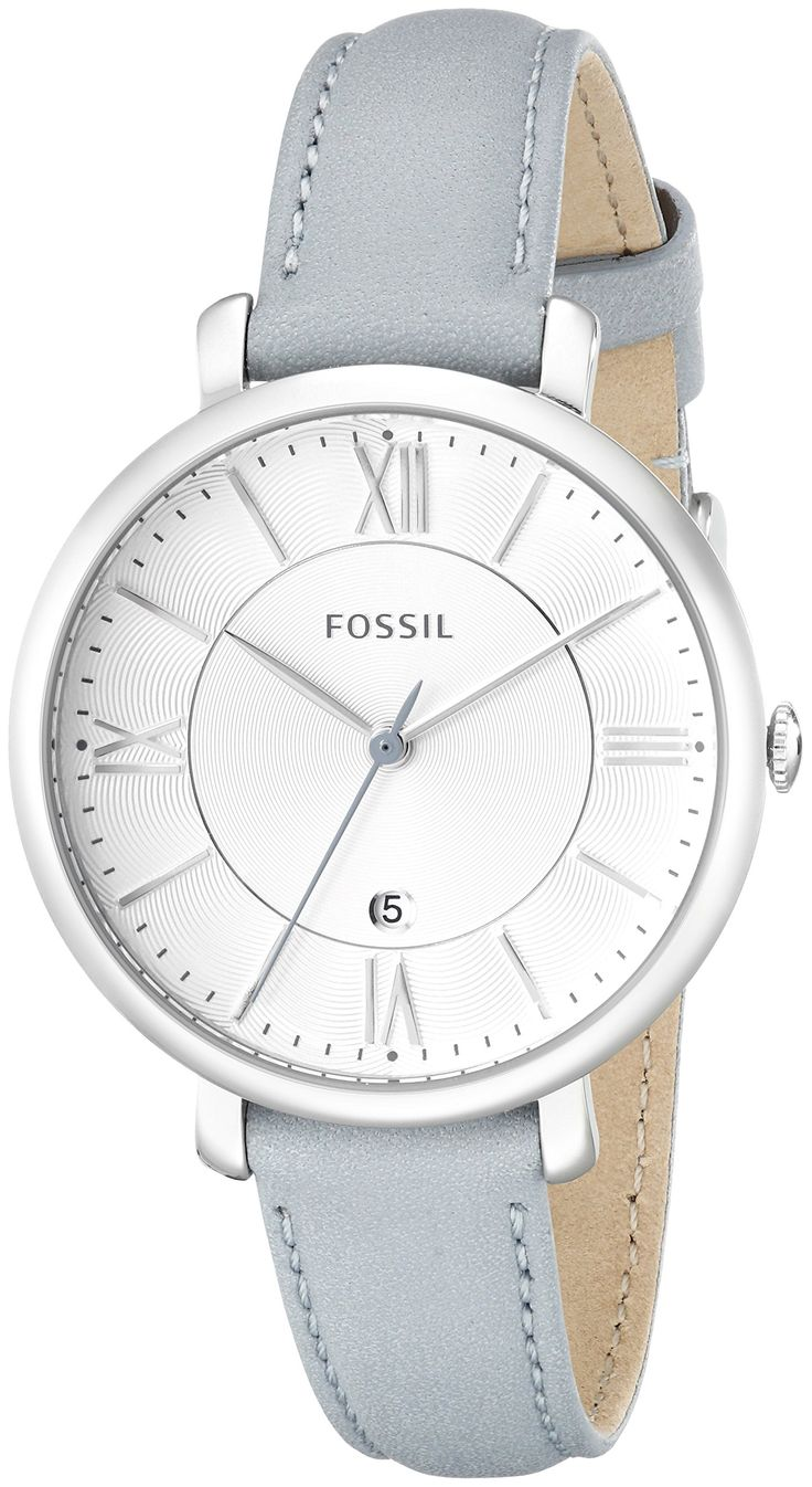Amazon.com: Fossil Women's ES3821 Jacqueline Analog Display Analog Quartz Blue Watch: Watches