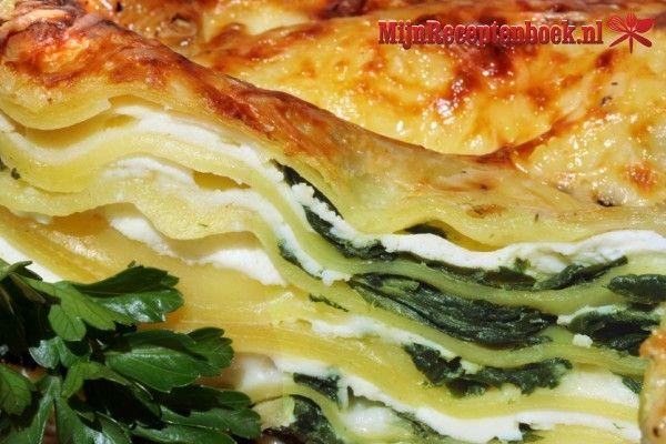 Lasagne met spinazie en geitenkaas recept: moet ook met courgettelaagjes lukken