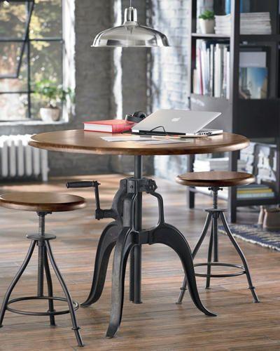crank gathering table art van furniture