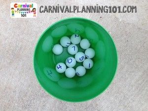 Balls with Numbers for Cake Walk Game