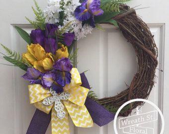 Spring Wreath Easter Wreath Bird Nest Wreath by WreathStreetFloral