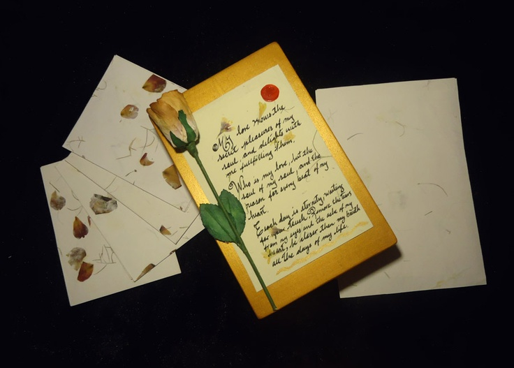 Old Love Letter Box & Stationary.  Add your own letters. Makes a great Valentine or Anniversary gift.