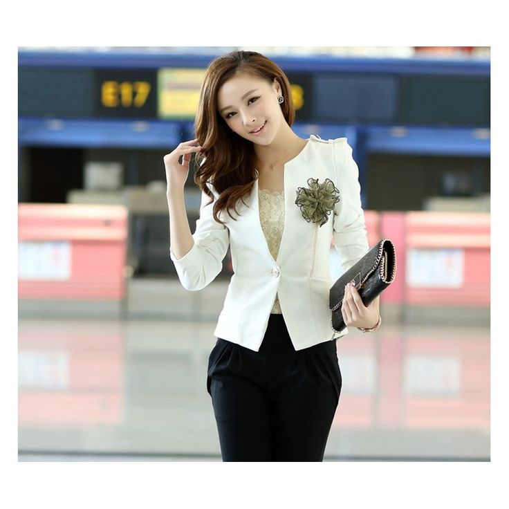 Pink White Black Suit Blazer BJK345 Model  72989 Condition  New  BJK345 Color: White/pink/black  Material suit cotton bust90-open sleeve60 length58 450gr Note: without corsage Retail IDR244.000	Reseller IDR183.000	Wholeseller IDR152.500
