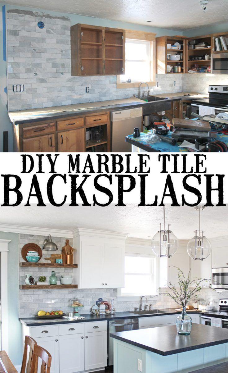 DIY Marble Subway Tile Backsplash: Tips, Tricks and What NOT To Do