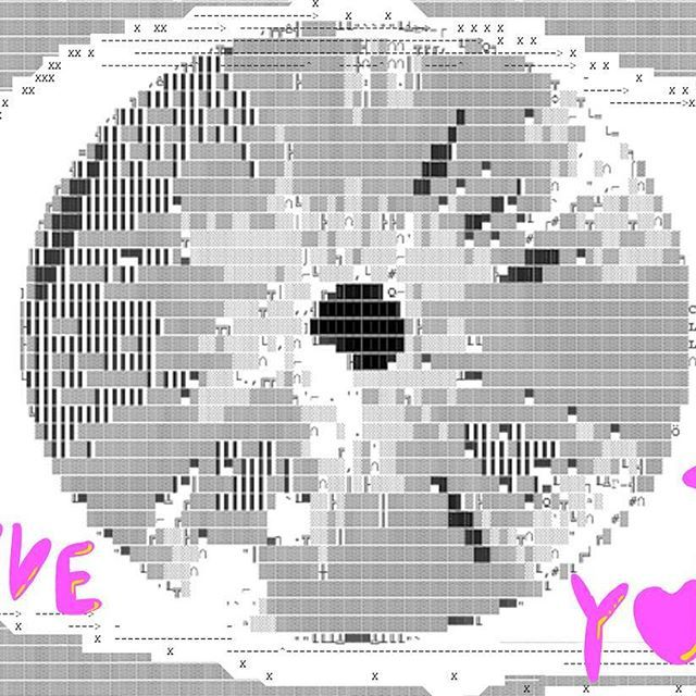 👁💗U  This #digital #drawing is redone for IG from an #illustration job I am currently working on. The #ascii #eye will be filling ✌🏻2 book pages. Just because I feel bad 💔 not doing some crazy stuff with hours worth of working, I keep recycling my artworks❣️ I added some #bubblefont #handlettering which I am super addicted to in all kinds of forms... #digitalcollage #digitalart #zinestyle #zine #bookillustration #drawdaily #love #art_we_inspire #lookrookie #topcreator…