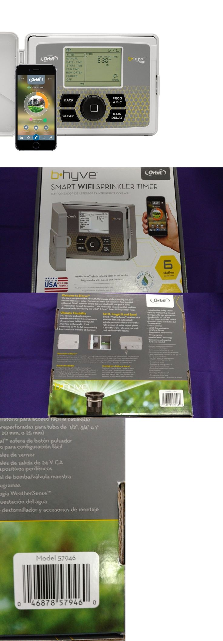 Watering Timers and Controllers 75672: Orbit 57946 B-Hyve Indoor Outdoor 6 Station Wifi Sprinkler System Controller Nib -> BUY IT NOW ONLY: $76.95 on eBay!