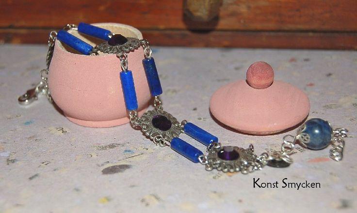 Vintage armband med Lapis Lazuli