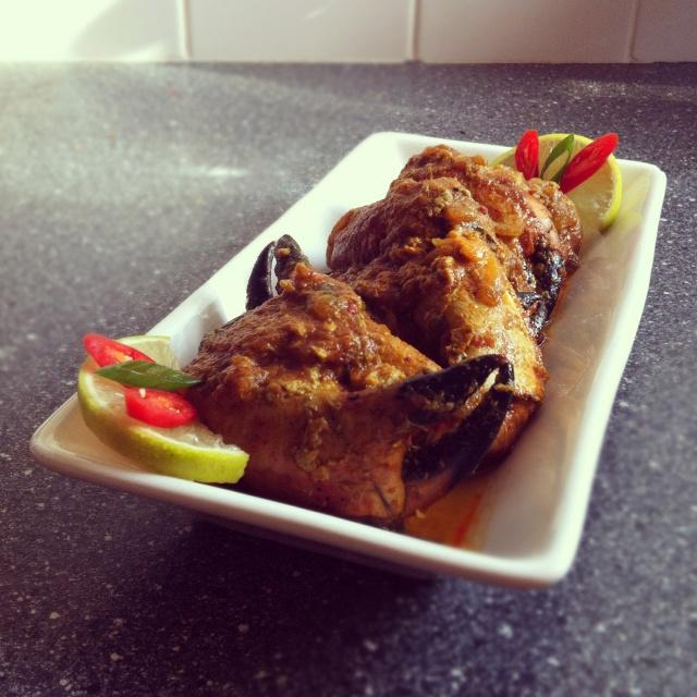 Kepiting saus padang - Crab with padang sauce