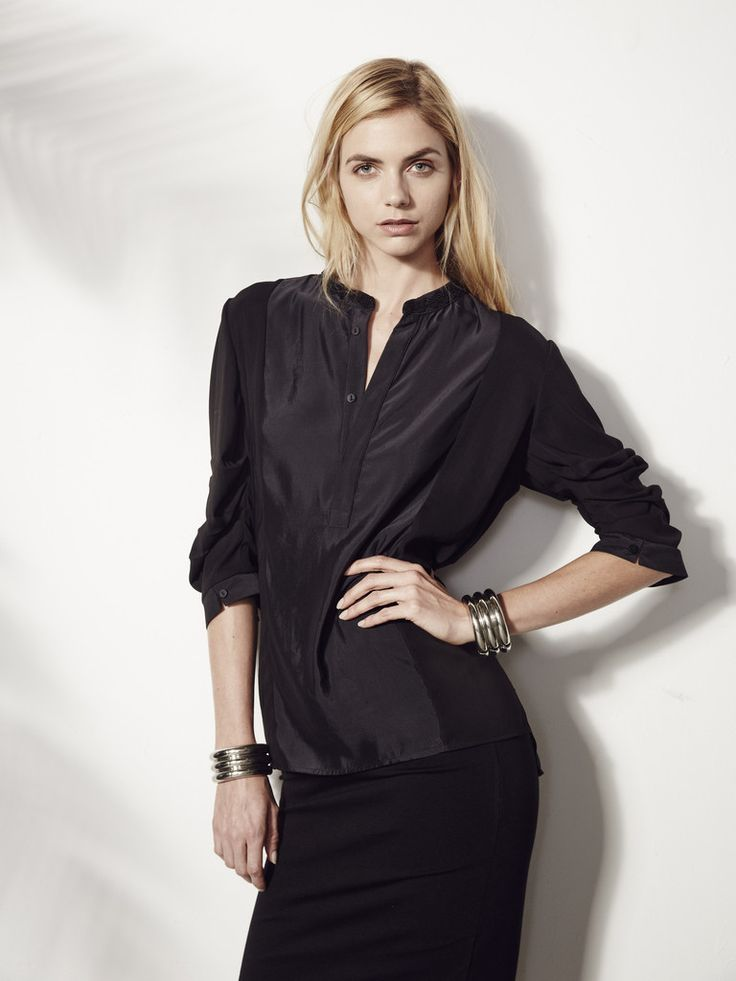 Silk Charmeuse Pullover Shirt Made to Order - INTER-PRET.us