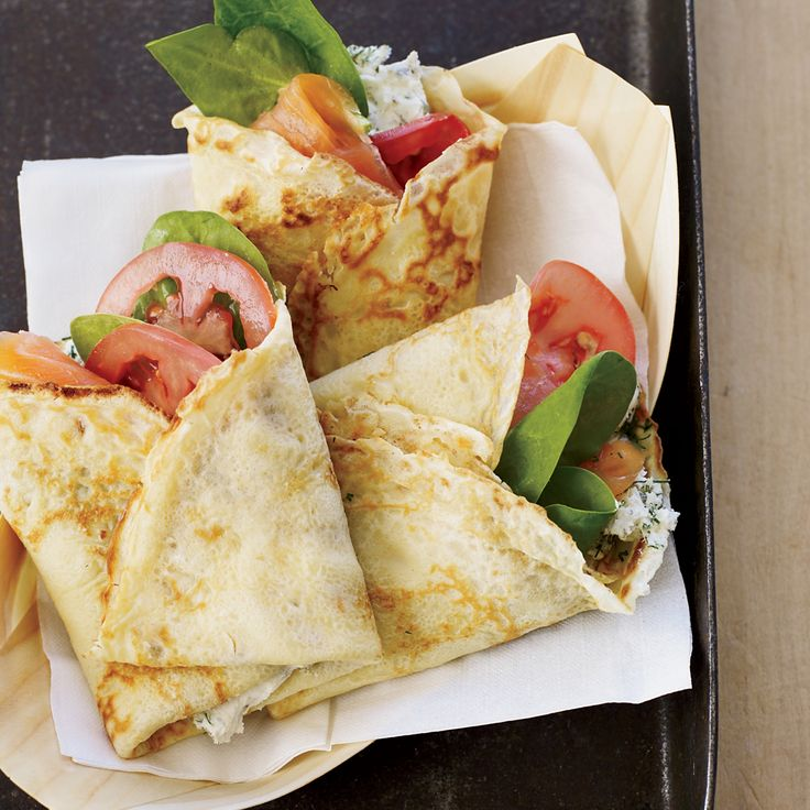 Smoked Salmon and Cream Cheese Crêpes  Austin's Flip Happy food truck uses giant crêpes like tortillas, filling them with savory stuffings like juicy pulled pork and caramelized onions or ...