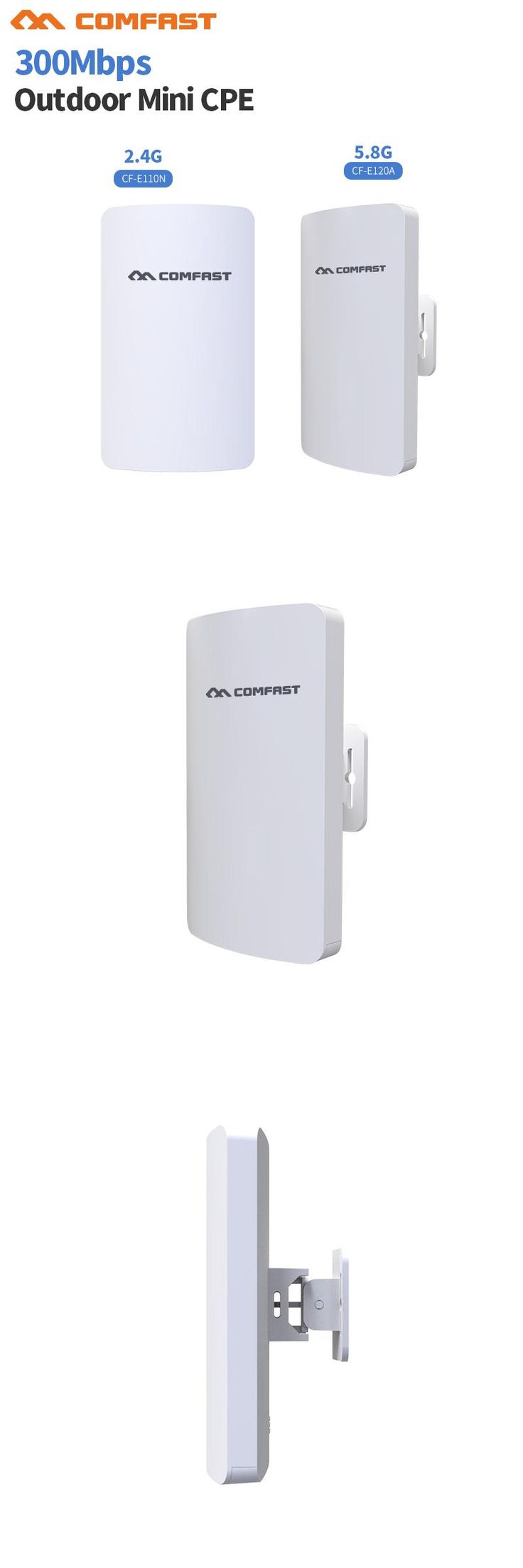 [Visit to Buy] 2.4& 5G Mini Wireless WIFI Router Repeater Long Range cpe 3KM 300M Outdoor AP Router CPE AP Bridge Client Router Support OpenWRT #Advertisement