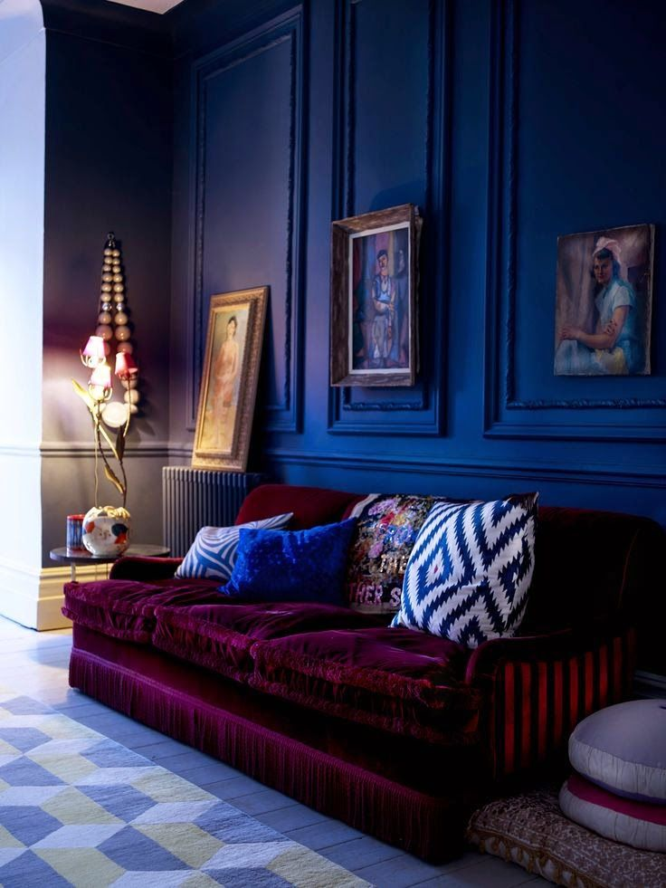 Eye For Design: Decorating With Velvet Sofas.........Trendy For 2015