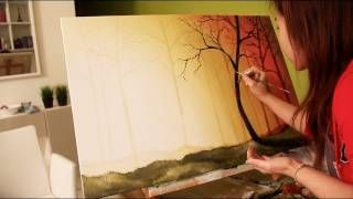 step by step painting on canvas for beginners - YouTube