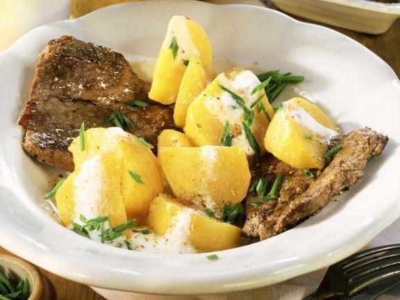 Hüftsteak mit Teltower Rübchen ist ein Rezept mit frischen Zutaten aus der Kategorie Rind. Probieren Sie dieses und weitere Rezepte von EAT SMARTER!