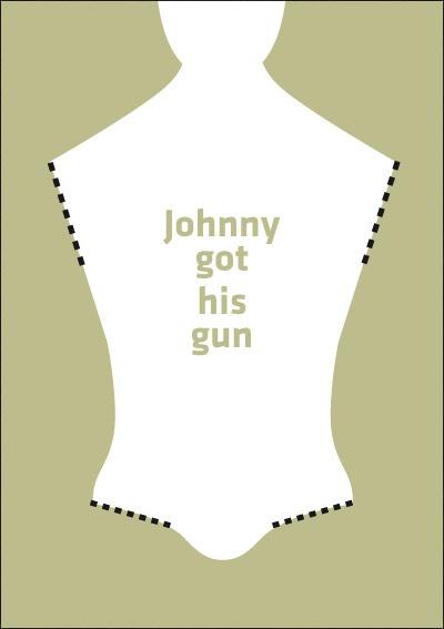 Johnny got his gun. Minimalist Movie Poster.  Johnny cogió su fusil.