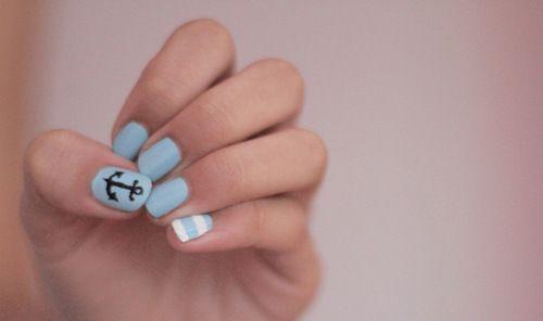 Anchors away.: Sailor Nails, Nails Art, Anchors Nails, Cute Nails, Nailart, Sailors Nails, Beautiful, Summer Nails, Nautical Nails
