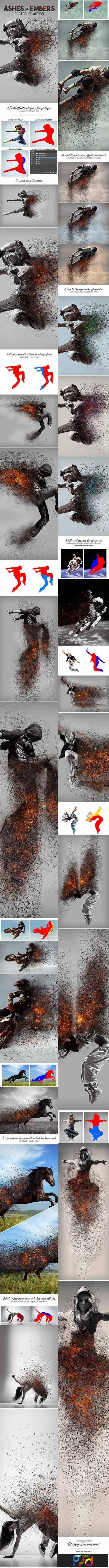 1801157 Ashes n Embers Photoshop Action 18525809 - Free PSD download, free photoshop action, lightroom preset, plugin, vector, stock, font... with Google Drive links
