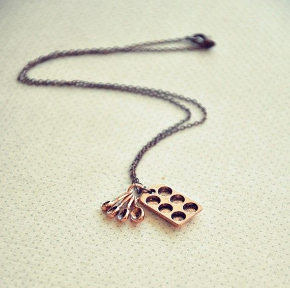 I don't wear a ton of jewelry, but I think this baker's necklace is cute