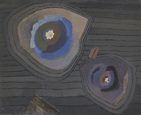 Jiri John (1923 - 1972), Minerals - Flowers of Minerals (Nerosty - Květy hornin), 1968, oil on canvas, 82 x 100 cm.