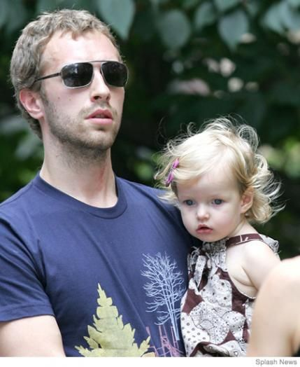 Chris Martin and baby Apple! Check out more celeb dads by clicking the link.