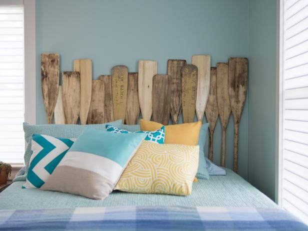 DIY Network showcases unique designs where salvaged items were turned into beautiful new headboards.