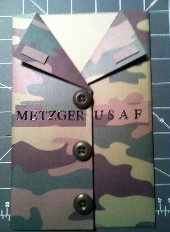 Cute military card
