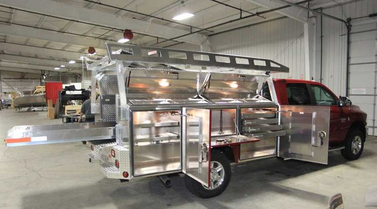 Lightweight aluminum Utility bodies make more sense every day as fuel costs go up. Take a look at this one built by Highway Products.