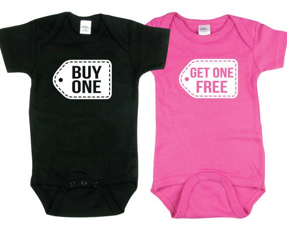 BOGO  Set of 2 Baby Twin Shirts  Baby Boy & by SingleAndTwinShirts