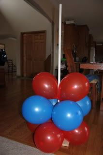 Balloon Tower. Camo balloons