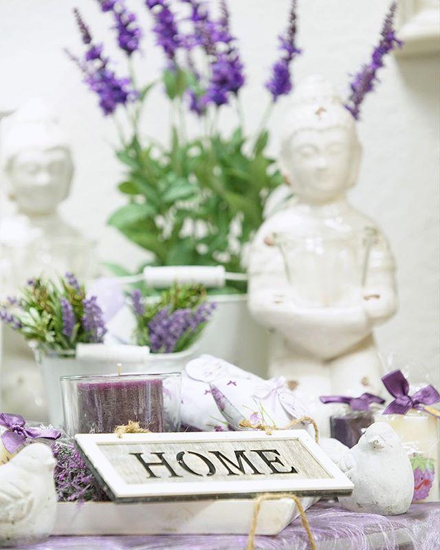 """#Home mit Lavendel, Kerzen und unserem Buddah """"Bali"""" ❤️"""