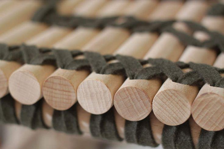 Adélaïde banquette design bois et feutre par Anja Clerc - Metylos