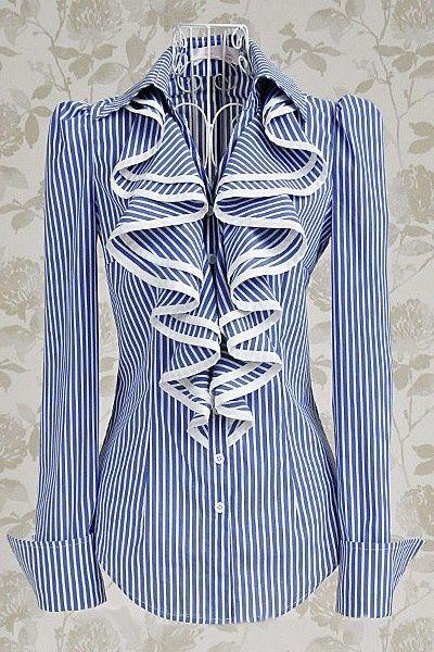 Feminine shirt Blusa hermosa ala moda